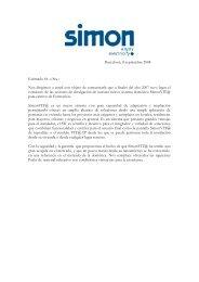 Barcelona, 8 septiembre 2008 Estimado Sr. o Sra.: Nos ... - Simon
