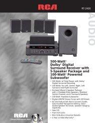 500-Watt1 Dolby2 Digital Surround Receiver with 5-Speaker ...