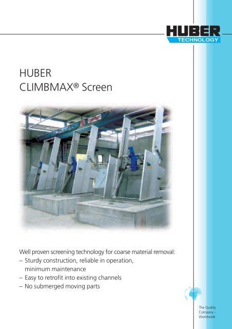 HUBER CLIMBMAX® Screen - brochure english
