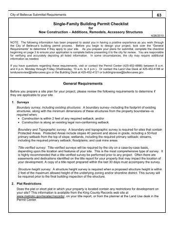 City Of Bellevue Wa Building Permits