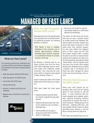 MANAGED OR FAST LANES - Charlotte-Mecklenburg County
