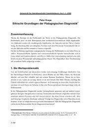 Ethische Grundlagen der Pädagogischen Diagnostik - Zeitschrift für ...