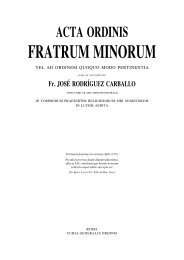 FRATRUMMINORUM - OFM
