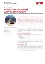 ENERGY MANAGEMENT AND SUSTAINABILITY - Master | EPFL