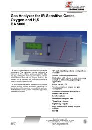 Gas Analyzer for IR-Sensitive Gases, Oxygen and H S2 BA 5000