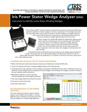 Iris Power Stator Wedge Analyzer(SWA) - Iris Power Engineering