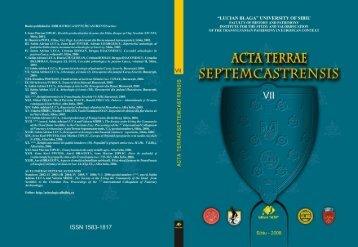 ACTA TERRAE SEPTEMCASTRENSIS VII Proceedings of the ...