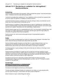 Revidering av vedtekter for sikringsfond i Samfunnsviterne