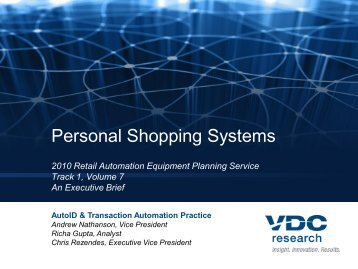 2010 Retail Automation Equipment Planning ... - VDC Research