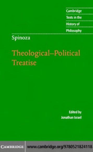 BENEDICT DE SPINOZA: Theological-Political Treatise