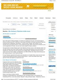 Medizin: Wie Software Patienten helfen kann - Home/News
