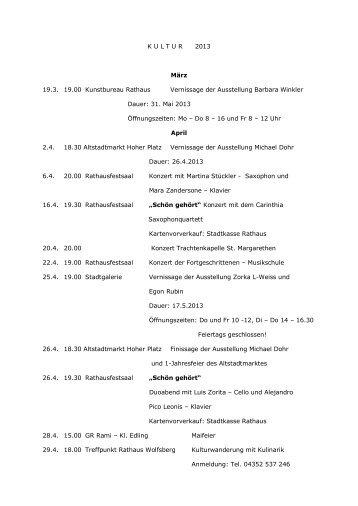 zum kulturkalender - Wolfsberg