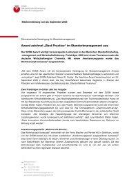 """Award zeichnet """"Best Practice"""" im Standortmanagement aus - SVSM ..."""