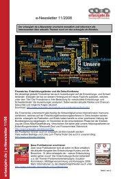 e-Newsletter 11/08 - Erlassjahr.de
