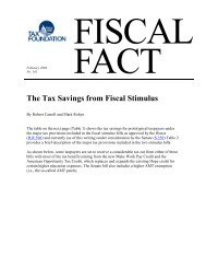 The Tax Savings from Fiscal Stimulus - Tax Foundation