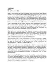 Trascendió Milenio 26 de Febrero de 2013 - Sistema Integral de ...