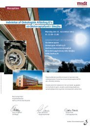 Læs mere i vedhæftede invitation - Aarhus Universitetshospital