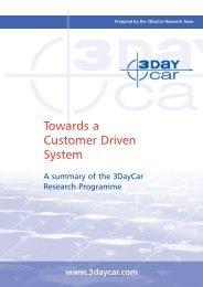 3DayCar Summary Report