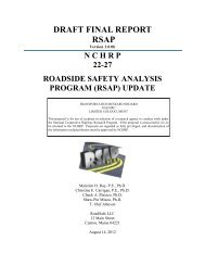 DRAFT FINAL REPORT RSAP - Roadsafe LLC
