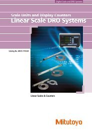 Linear Scale DRO Systems - Mitutoyo Scandinavia AB