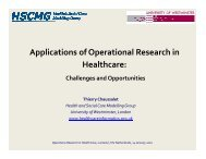 Applications of Operational Research in Healthcare: - LNMB
