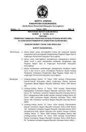 Peraturan Bupati No 6 Tahun 2012 tentang Pemberian - Gunungkidul