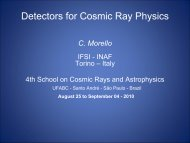 MC2: Detectors for CR Physics - 4th School on Cosmic Rays and ...