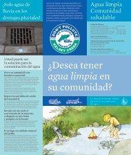 Â¿Desea tener agua limpia en su comunidad? - City of Bellevue