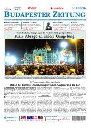 Budapester Zeitung - Handelskammer Schweiz-Ungarn