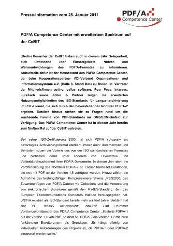 PDF/A Competence Center mit erweitertem Spektrum auf der CeBIT