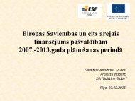 Eiropas Savienības un cits ārējais finansējums pašvaldībām 2007.