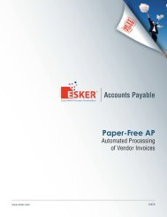 Automated Processing Of Vendor Invoices - Esker