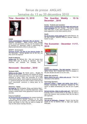 revue de presse du 30 mai au 3 juin 2011 comit de coop ration. Black Bedroom Furniture Sets. Home Design Ideas
