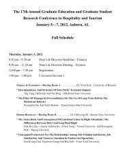 The 17th Annual Graduate Education and Graduate Student ...