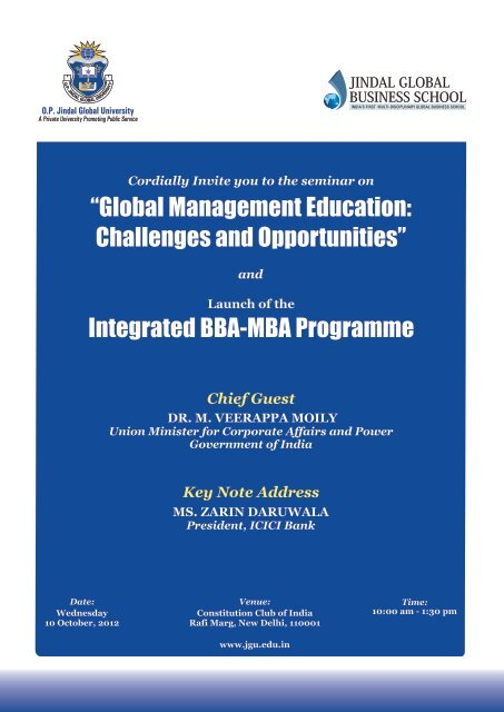 Global Management Education : Challenges and Opportunities