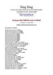 Catalogo audio sede di AREZZO Sing Sing