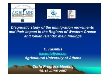 Diagnostic study of the immigration movements and ... - HuReDePIS