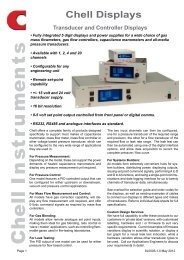 Chell Displays Data Sheet - Chell Instruments