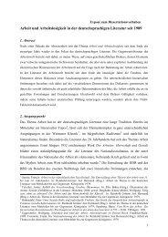 Arbeit und Arbeitslosigkeit in der deutschsprachigen Literatur seit ...