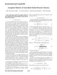 Asymptotic Behavior of Generalized Partial Directed ... - IEEE Xplore