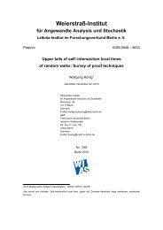 Weierstraп-Institut fќr Angewandte Analysis und Stochastik - WIAS