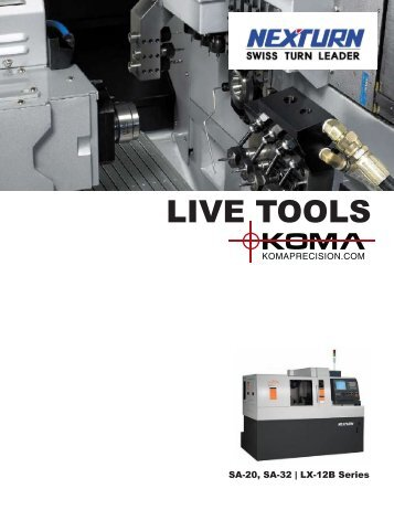 Nexturn Swiss Live Tools - Koma Precision, Inc.