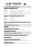 SäkerhetsDataBlad BLIXTSALT P95 - Swedol - Page 2
