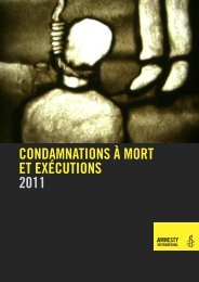 Condamnations à mort et exécutions en 2011 - Amnesty International