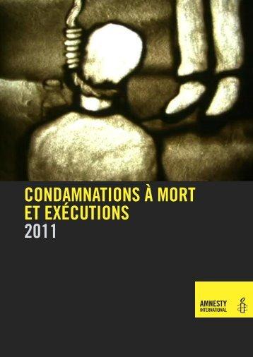 Condamnations à mort et exécutions en 2011 - Amnesty International