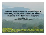 Satellite measurements of formaldehyde & what they tell us about ...