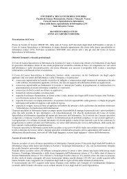 Varese Corso di Laurea Specialisti - Dipartimento di Informatica e ...