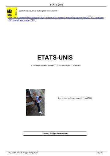ETATS-UNIS - AMNESTY INTERNATIONAL.be