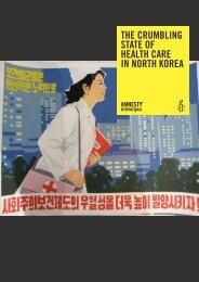the crumbling state of health care in north korea - AMNESTY ...