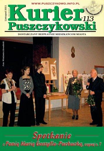 Kurier 113-fonty.indd - Stowarzyszenie Przyjaciół Puszczykowa